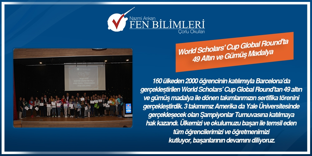 WORLD SCHOLARS' CUP GLOBAL RAUND