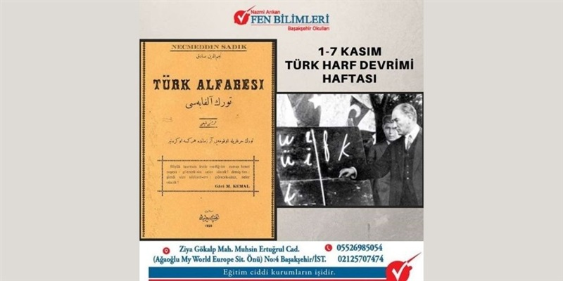 1-7 Kasım Türk Harf Devrimi Haftası