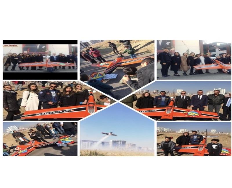 THK işbirliği ile 10 Kasım'da Ata'mızı Model Uçak Gösterisiyle andık.