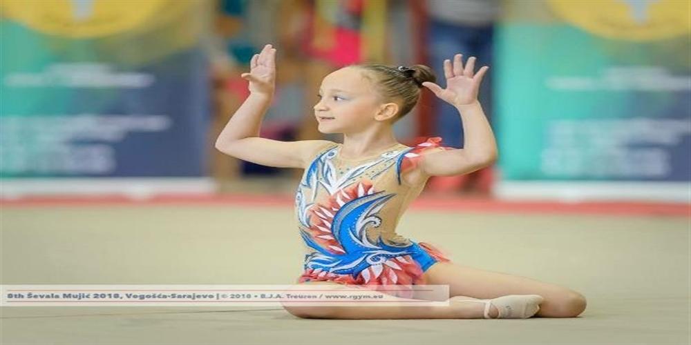 2.Sınıf Öğrencimiz Ada Gezer'den Ritmik Cimnastikte Uluslararası 1.lik