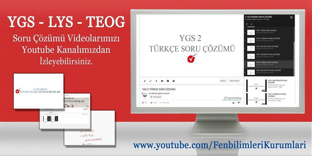 Youtube Kanalımız Yayında